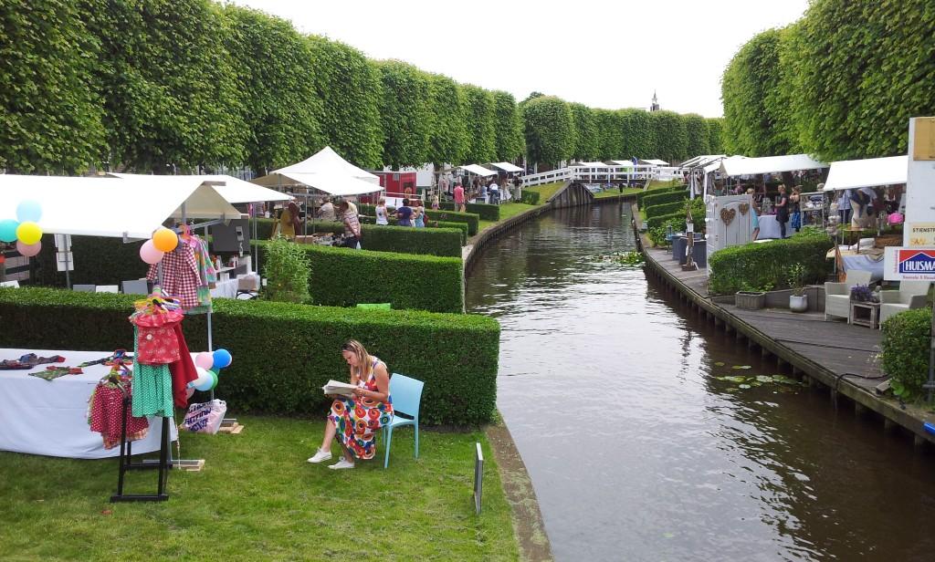 In de voor IJlst kenmerkende overtuinen worden geregeld toeristische activiteiten georganiseerd. Foto: Jeroen Deen